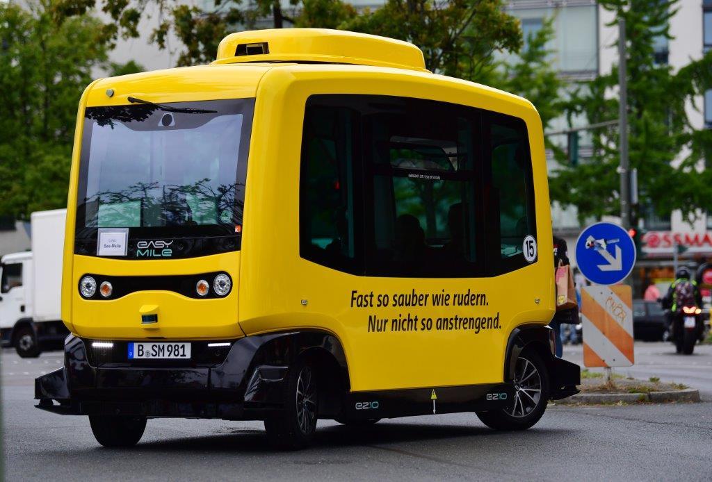 Autonomous vehicles for public transportation on the streets of Berlin