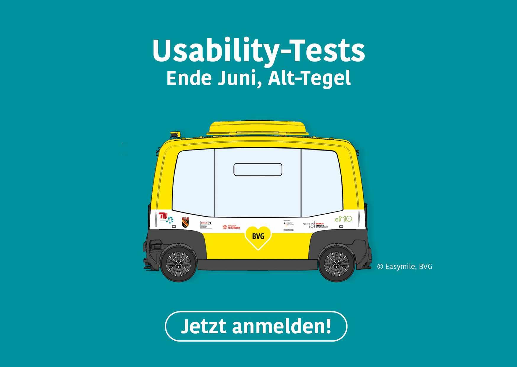 Werbebanner für Usability-Tests