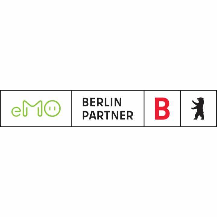 Logo CoBranding eMO & Berlin Partner für Wirtschaft und Technologie GmbH
