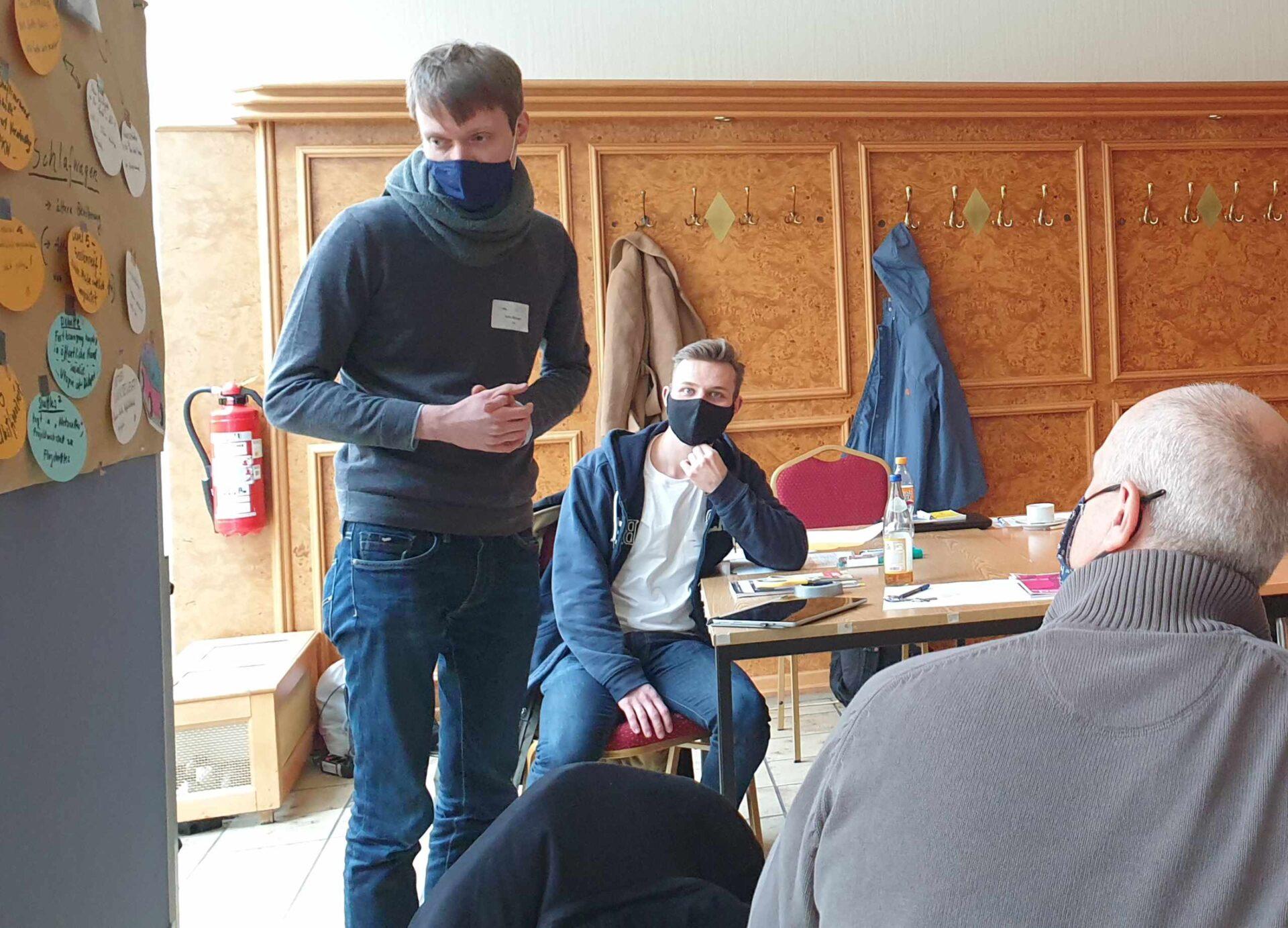 Teampräsentation bei der Projektwerkstatt in Mariendorf