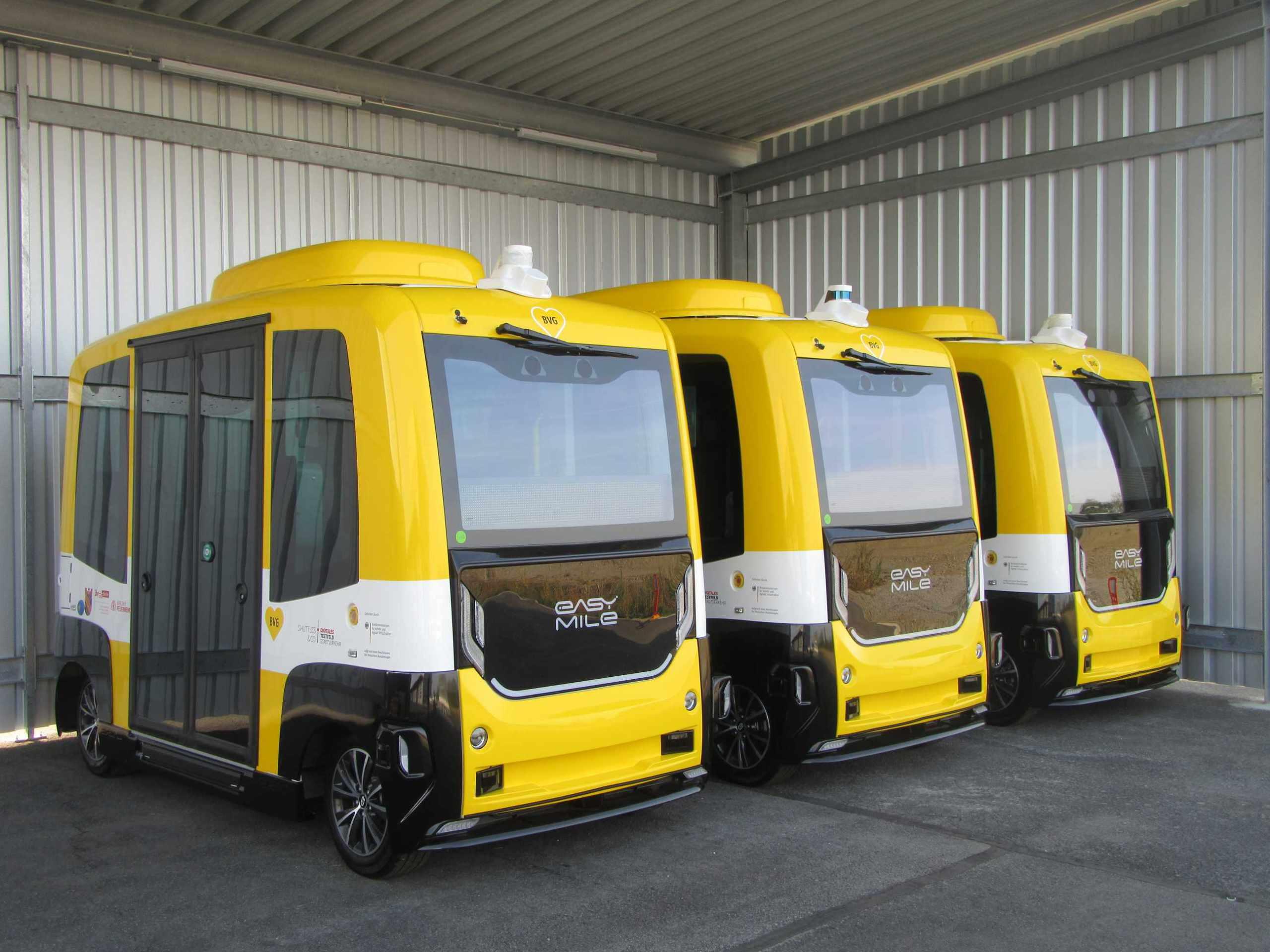 Shuttles at DEKRA in Klettwitz
